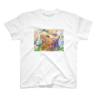 動物横顔シリーズ ヤマネコ T-shirts