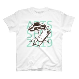 ASO2019×タドリ 美脚うさぎバカンス T-shirts