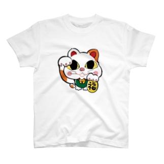 招き猫  T-shirts