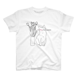 猫が可愛すぎて死にそう T-shirts