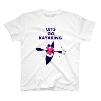 カヤックに乗ろう T-shirts