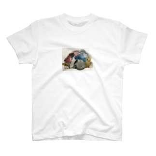ぬいぐるみたちの絵 T-shirts