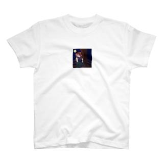 月夜のアクリルブロック T-shirts