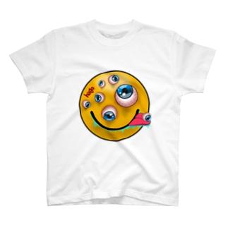 """目玉だらけ!!""""Crazyスマイル"""" T-shirts"""