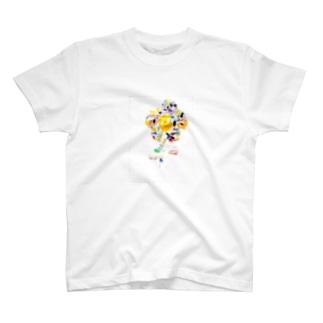 虹色の花 T-shirts