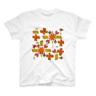 五香粉組み紋柄 T-shirts