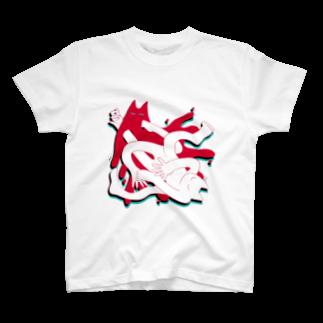 makkuragari's goods shopのgood-nya-rhythm T-shirts