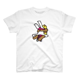 クマレスラー&ウサギレスラー T-shirts