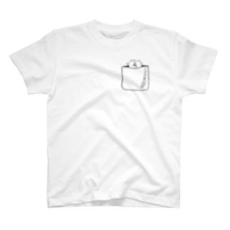 わん夫(ポッケ柄) T-shirts