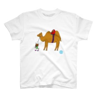 ポッチとラクダ T-shirts