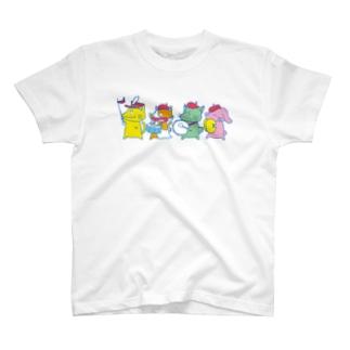 ねこさんずマーチングバンド T-shirts