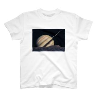 岩崎賀都彰 宇宙細密画 テチス衛星の情景 T-shirts