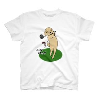 ナイスショット(両面) T-shirts