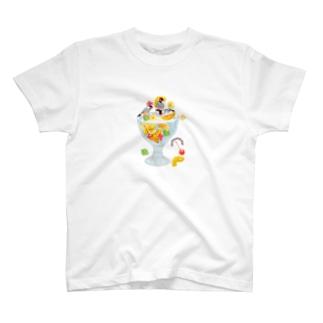 みつ豆桜文鳥 T-shirts