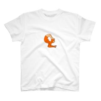 福豆のヨガ(丸) T-shirts