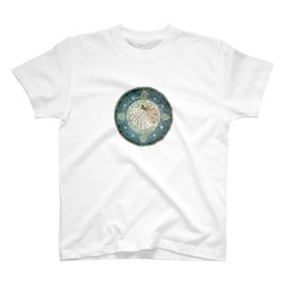 モザイクアート*オウム貝 T-shirts