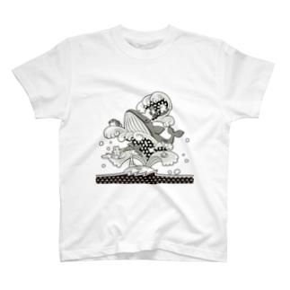 ゆめくじら(モノトーン) T-shirts