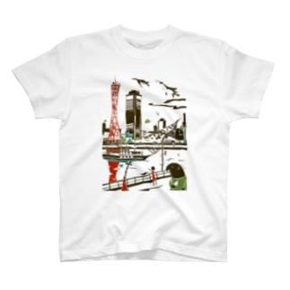 兵庫 神戸 T-shirts
