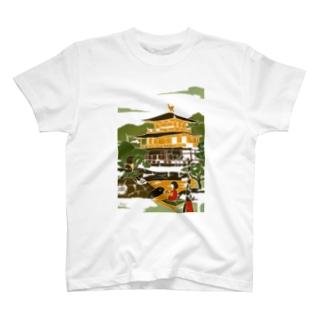京都 金閣寺 T-shirts