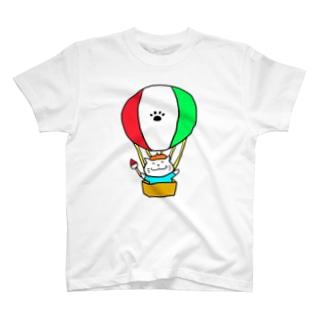 えかきにゃんこ気球 T-shirts