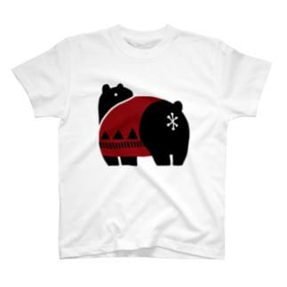 ふりむきクマ T-shirts