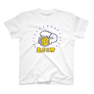 ビール好きのぴよたそ T-shirts