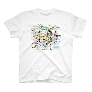 Tokyo Metro route map T-shirts