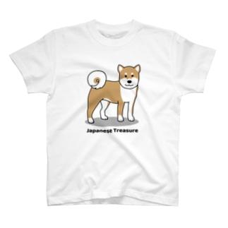 shiba1&2(両面) T-shirts