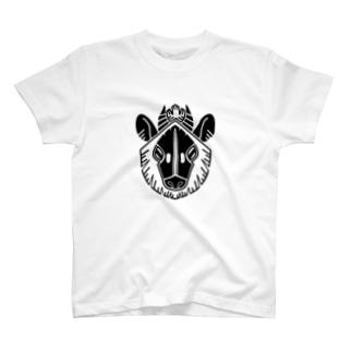 家紋風ニホンカモシカ T-shirts