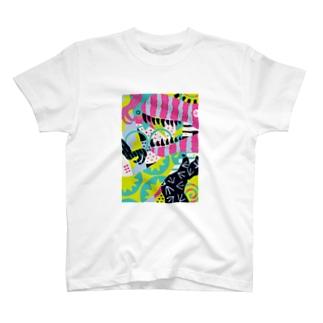 composition:ティラノサウルス T-shirts