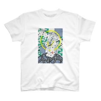 composition:スピノサウルス T-shirts