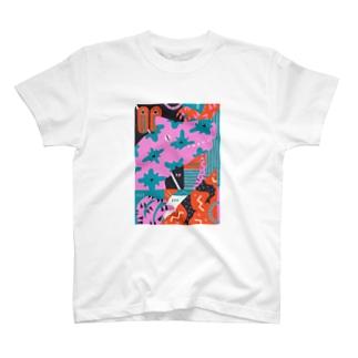 composition:アロサウルス T-shirts
