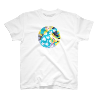 composition:パラサウロロフス T-shirts