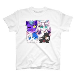 あおつるっこ猫組 T-shirts