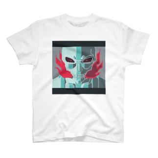 燃えるスカル T-shirts