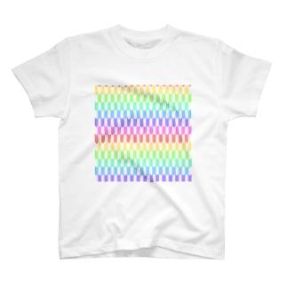 Yagasuri(Pastel Rainbow) T-shirts