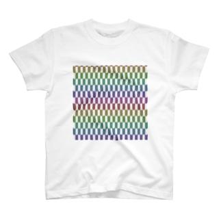 Yagasuri(Vintage Rainbow) T-shirts