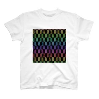 Yagasuri(Vintage Rainbow - Black) T-shirts