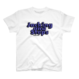 Jacking and Steps パープル T-shirts