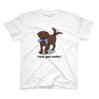 ラブソックスチョコ T-shirts