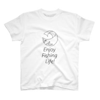 エンジョイフィッシングライフ T-shirts