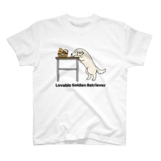 ラバブルゴル白 T-shirts