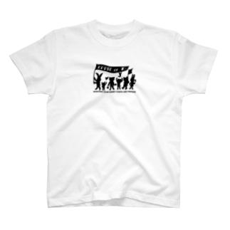 ぱんちHOD30 black T-shirts
