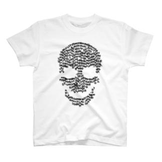 白骨の御文のスカル黒 T-shirts