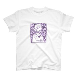 purple 柄 Tシャツ T-shirts