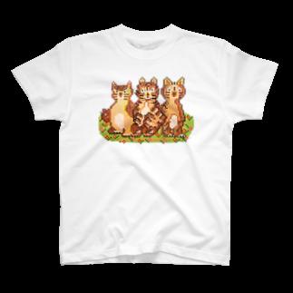 さぶのモザイクねこ T-shirts