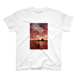 mermaid/pyramid T-shirts