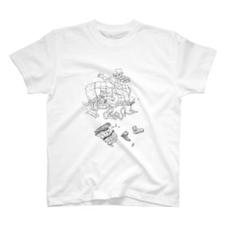 動的平衡 T-shirts