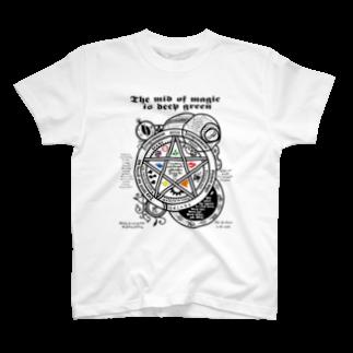 Work-Station_ShizuokaのThe mid of magic 魔法陣 T-shirts