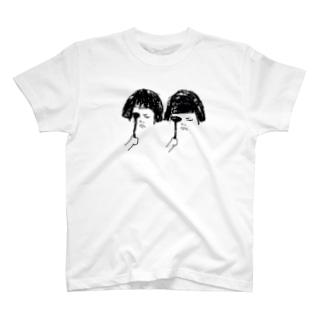 おかっぱ女子の視力検査 T-shirts